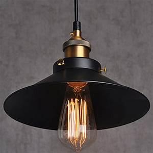 Luminaire Industriel Vintage : painted iron pendant lighting vintage lamp holder incandescent bulbs touch switch stainles ~ Teatrodelosmanantiales.com Idées de Décoration