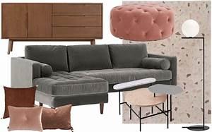 Salon Gris Et Rose : un salon en gris et rose la d co chic joli place ~ Melissatoandfro.com Idées de Décoration