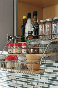 best 25 pull down spice rack ideas on pinterest spice With kitchen cabinets lowes with tiger eyes wall art