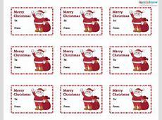 Printable christmas gift tags santa Download them or print