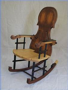 Viol family rocking chair - No instruments were harmed in ...