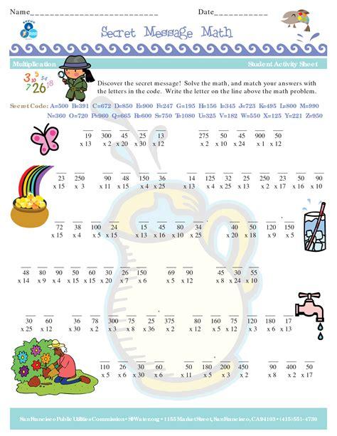 math secret code worksheets free worksheets maths is
