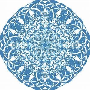 Mandala Blue Doily Lace Free Vector Graphic On Pixabay