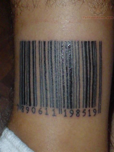 barcode tattoo images designs