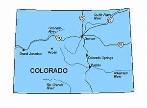 Colorado US State PowerPoint Map, Highways, Waterways ...