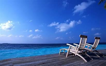 Summer Desktop Beach Chairs Wallpapers Nature Widescreen