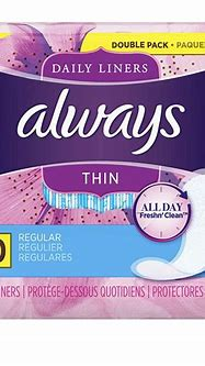 Always Thin Daily Liners, Regular Absorbency, 120 Count ...