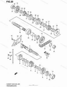 Suzuki Motorcycle 2001 Oem Parts Diagram For Transmission