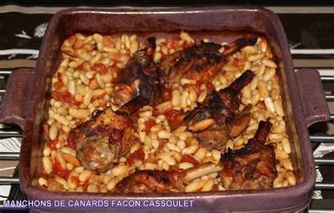 cuisiner manchons de canard manchons de canard facon cassoulet tupperware dans ma