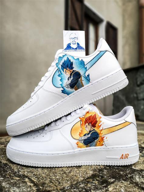 force air nike custom goku dbz vegeta vs sneakers thecustommovement aesthetic sneaker pair movement paint