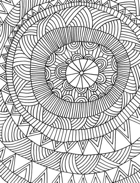Coloring Vector Infinite Design by Just Add Color Geometric Patterns 30 Original