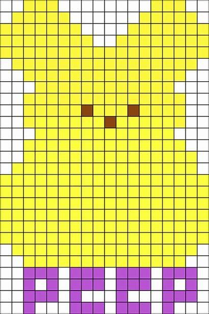 Perler Patterns Bead Easter Peep Pattern Peeps