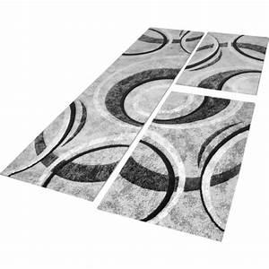 Teppich Schwarz Weiß Gestreift : l uferset teppich gestreift grau schwarz creme tapijt24 ~ A.2002-acura-tl-radio.info Haus und Dekorationen