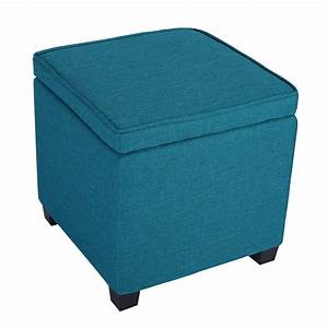 Langria square storage ottoman seat chair foot rest stool for Storage ottoman seat