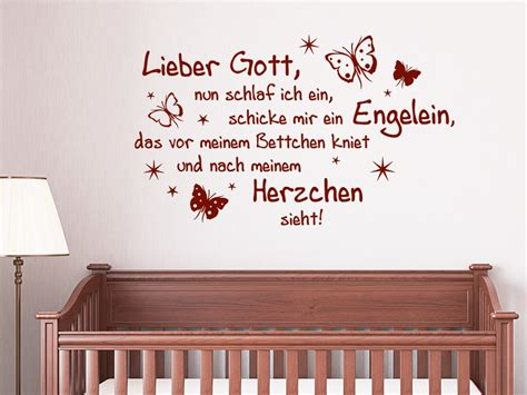 Wandtattoo Kinderzimmer Spruch by Wandtattoo Lieber Gott Spruch Wandtattoo De