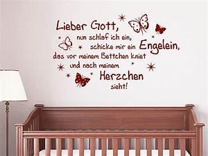 Wandtattoo Für Babyzimmer : wandtattoo lieber gott nun schlaf ich ein ~ Markanthonyermac.com Haus und Dekorationen