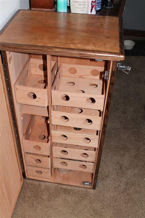 custom large cabinet humidor cherry walnut spanish