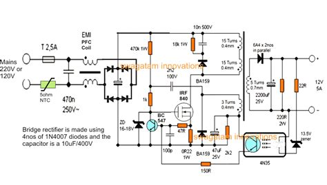 Amp Smps Battery Charger Circuit Homemade