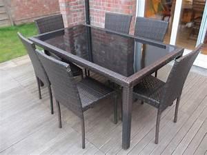 Table De Jardin Tressé : table de jardin en r sine tress e 6 chaises bergamo ~ Teatrodelosmanantiales.com Idées de Décoration