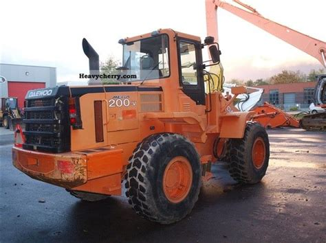 daewoo mega 200 v 2005 wheeled loader construction equipment and specs