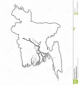 Bangladesh Outline Map Royalty Free Stock Image