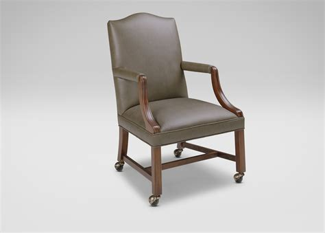 ethan allen armchair clarke leather desk chair ethan allen 3598