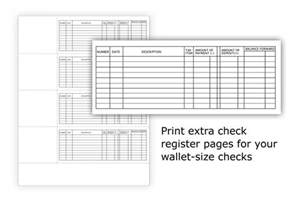 Printable Check Register Checkbook Size