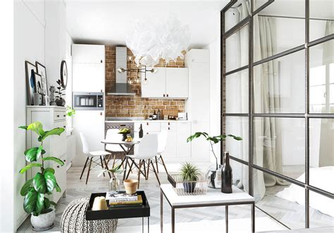 A Modern Scandinavian Inspired Apartment With Ingenius Features : Studio Apartments In Three Modern Styles