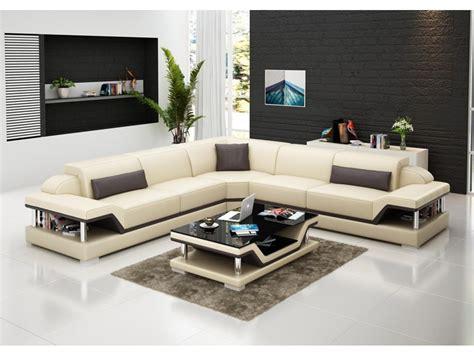canapé d angle cuir beige canapé d 39 angle en cuir l relax pop design fr