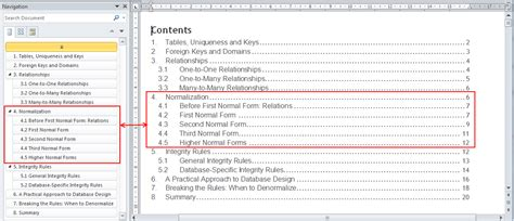 microsoft word table of contents navigation pane in word 2010 your content guide the