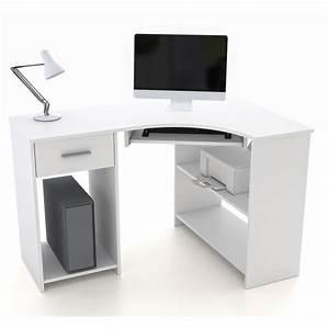 Schreibtische Weiß : eckschreibtisch mit tastaturauszug schreibtisch computer ~ Pilothousefishingboats.com Haus und Dekorationen