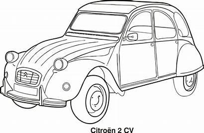 Coloring Citroen Outline Cars Classic Pages Outlines