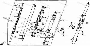 Honda Motorcycle 1989 Oem Parts Diagram For Front Fork