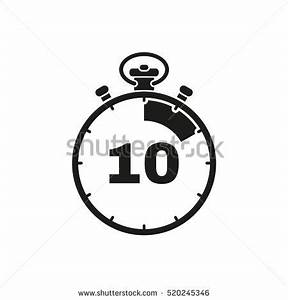 10 seconds minutes stopwatch icon clock stock illustration With countdown timer