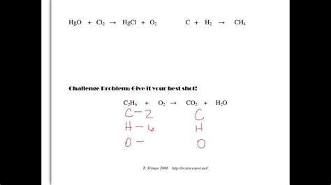 balancing equations all 8th grade science classes youtube
