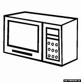 Oven Microwave Coloring Template Pages Sketch Thecolor sketch template