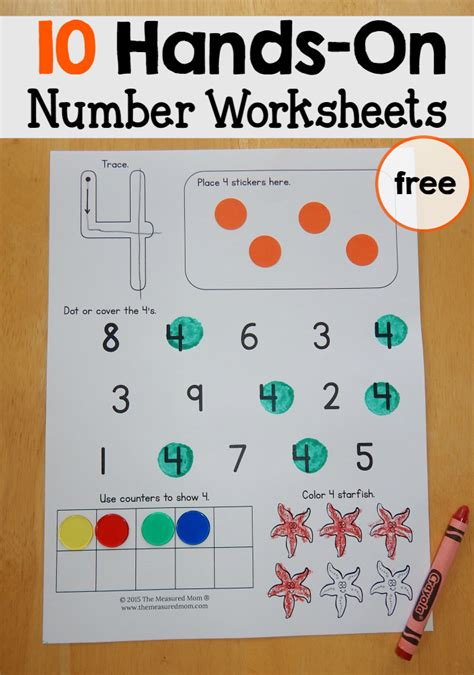 number worksheets    measured mom