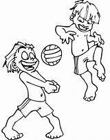 Volleyball Coloring Printable Colorir Beach Desenhos Elvis Kanak Colorear Presley Bola Halaman Mewarna Tampar Untuk Sheets Playing Crepusculo Clip Library sketch template