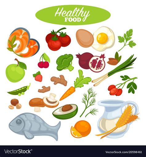healthy food poster  natural organic vegetables vector image