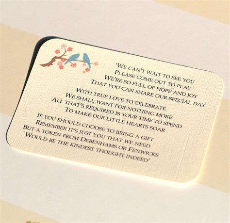 wedding invitations gift wording  cash