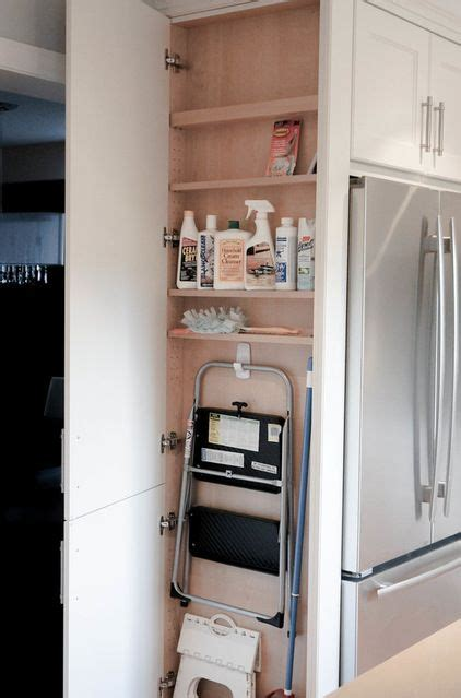 Kitchen Pantry Storage Cabinet Broom Closet by Great Kitchen Laundry Broom Closet Contemporary Kitchen By