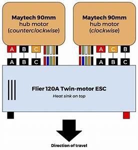 Wiring Maytech Hub Motors To Flier Twin Esc  Electronics