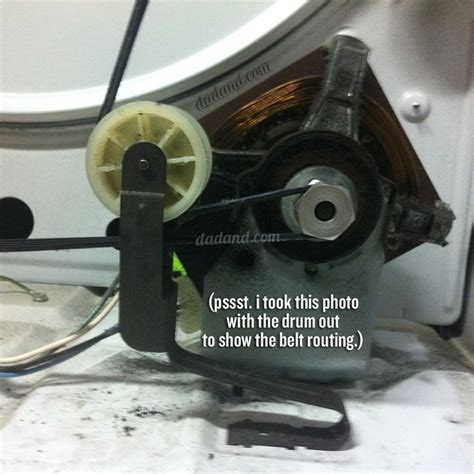 lg washer dryer changing a dryer drum drive belt dadand com dadand com