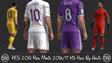 ultigamerz: PES 2013 Real Madrid Leaked 2016-17 Kit Pack