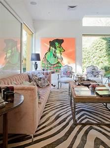 le tapis zebre en 50 photos avec beaucoup d39idees With tapis jonc de mer avec canapé lit escamotable pas cher