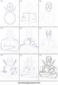 How to Draw Deadpool printable step by step drawing sheet ...
