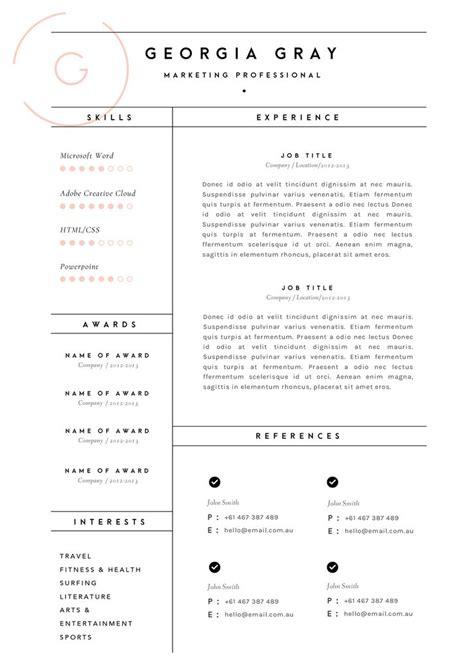 resume template australia ideas  pinterest