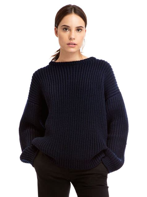 knit sweaters zady 09 09 navy chunky knit sweater zady com