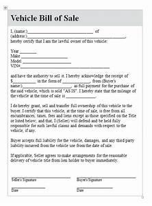 used car warranty template - used car bill of sale no warranty