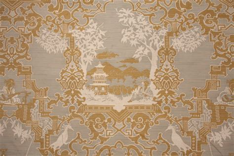 High End Oriental Toile Tapestry Upholstery Fabric $1495